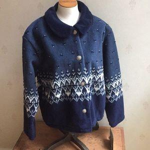 Black Diamond Annie Crop Fleece Jacket Size XL NWT